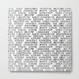 yoga text Metal Print