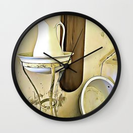 Once Upon a Time - Wash Jug and Stand Wall Clock