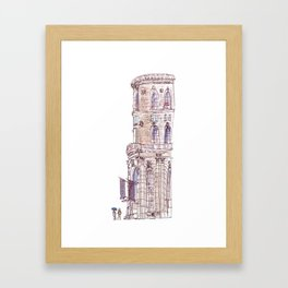 Corner Building Framed Art Print