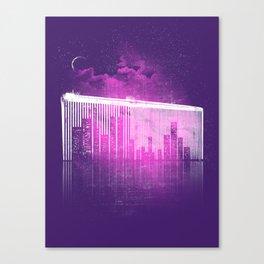 La Ville au Peigne Fin Canvas Print
