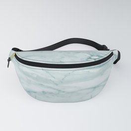 Marble Pale Teal Sea Green Marble Fanny Pack