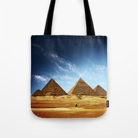 playstation Tote Bags featuring Egypt by eARTh