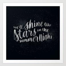 Shine Like Stars - Summer Art Print