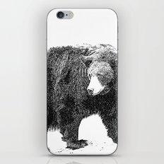 Black and White Bear iPhone & iPod Skin