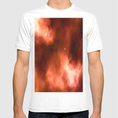 Nebula II MEDIUM Mens Fitted Tee White