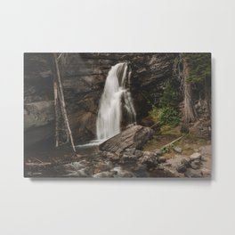 Saint Mary's Falls in Glacier  Metal Print
