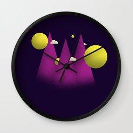 sleepy mountain Wall Clock
