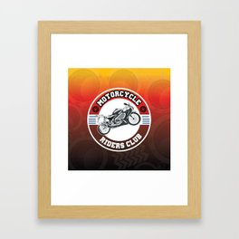 Motorcycle Riders Club Framed Art Print