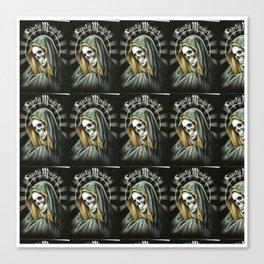 Santa Muerte pattern Canvas Print