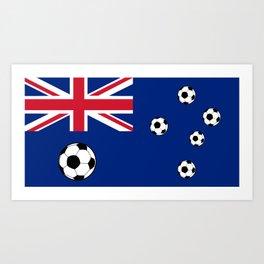 Australian Flag Football Art Print