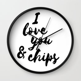 I love you and chips Wall Clock
