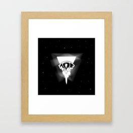 Melting eye Framed Art Print