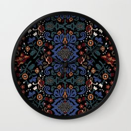 Folk Wall Clock