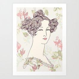 Lady I Art Print