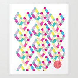rosa com canela debut Art Print