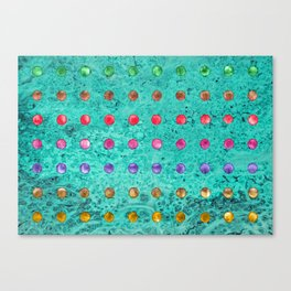 DOTTY TEAL Canvas Print