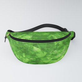 Dark pastel variegated green stars in the projection. Fanny Pack