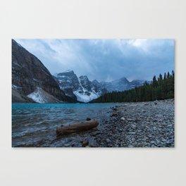 Moraine Lake Final Blue Hour Canvas Print