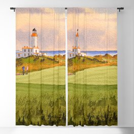 Turnberry Golf Course Scotland 9th Green Blackout Curtain