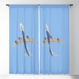 Flying plane enveloped in air Blackout Curtain
