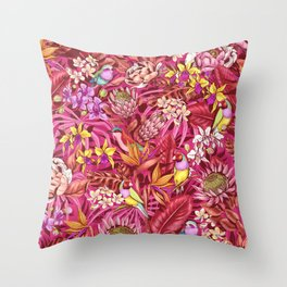 Stand out! (sunset flame) Throw Pillow