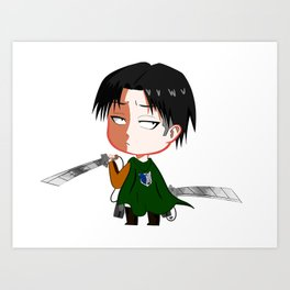 "Chibi Captain Levi (Rivaille) from ""Attack On Titan""/""Shingeki No Kyojin"" Art Print"