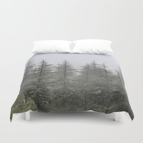 """Foggy forest"". Retro series. Duvet Cover"