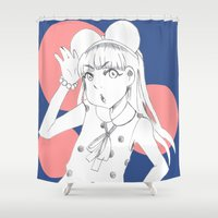 mouse Shower Curtains featuring Mouse by Ja-Na-Na