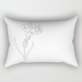 Carnation Lines Rectangular Pillow