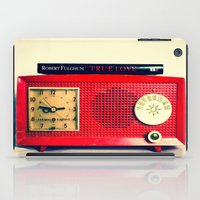 radio iPad Cases featuring Red Radio by Squint Photography