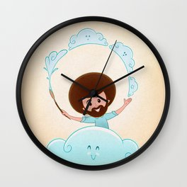Happy Clouds Wall Clock