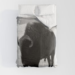 Bison On Open Range Comforters
