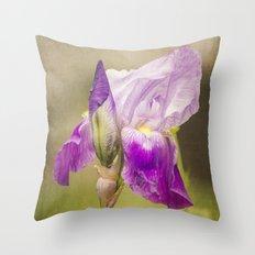 Painted Iris Throw Pillow