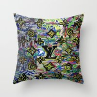 lv Throw Pillows featuring LV by JANUARY FROST