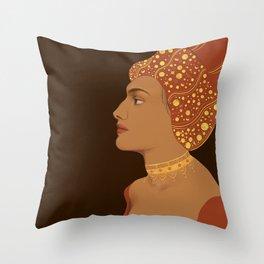 Female Side Profile   Throw Pillow