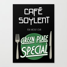 Soylent Cafe's Green Plate Special Canvas Print