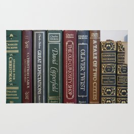 Dickens Books Rug