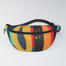 Starry Night of Summer Abstract Art Fanny Pack