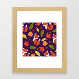 Fox Jumble Framed Art Print