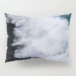 Powerful breaking wave in the Atlantic Ocean - Landscape Photography Pillow Sham