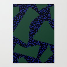 Memphis Patchwork 80s Pattern Canvas Print
