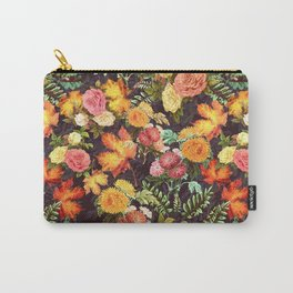 Autumn Flowers and Leaves Carry-All Pouch