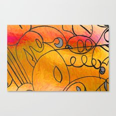 Curves at Sunset Canvas Print