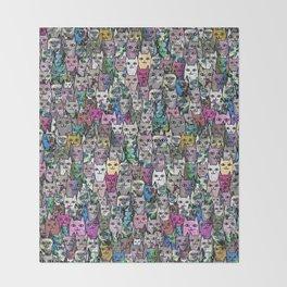 Gemstone Cats CYMK Throw Blanket