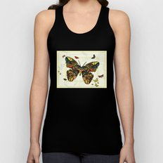 Colorful Butterfly Collage Unisex Tank Top