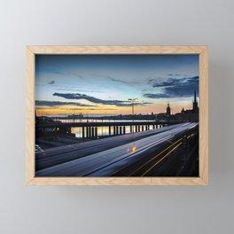 Stockholm Night - Slussen Framed Mini Art Print