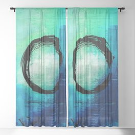 Enso No.MM13D by Kathy Morton Stanion Sheer Curtain