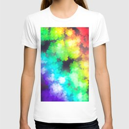 four leaved clover in rainbow colors T-shirt