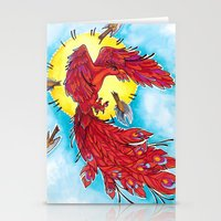 phoenix Stationery Cards featuring Phoenix by missfortunetattoo
