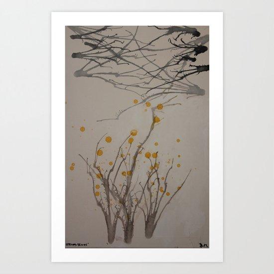 Spring begins Art Print